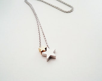 Star necklace, silver necklace, gift jewelry, minimalist jewelry