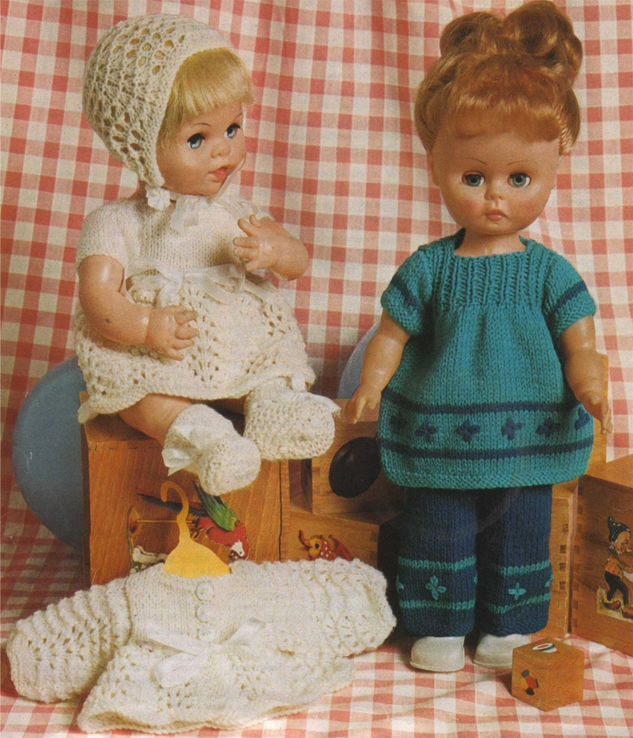 Knitting Patterns For Dolls Clothes 12 Inch : Dolls Clothes PDF Knitting Pattern : 14 inch Doll and 12 inch