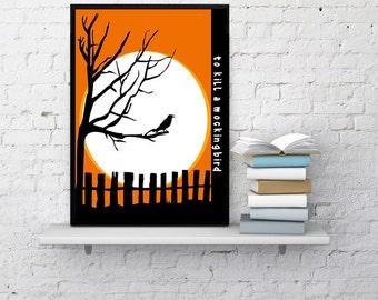 To Kill A Mockingbird Book Cover Poster