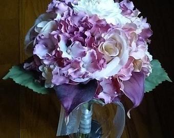 Pink Wedding Bouquet Bridesmaid Flowers Calla Lilies Spring