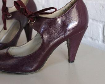 Eggplant Size 8 Mary Janes