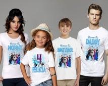Personalized Custom Frozen Birthday T Shirt Family shirts