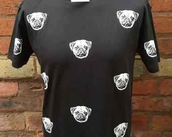 Pug Faces Pattern T-Shirt