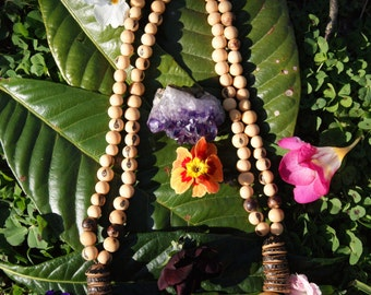Handmade Amazonian Seed Necklace - Acai and Jarina (Ivory palm seeds or Tagua), Paxiuba (the Walking Tree) from Brazil