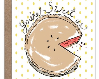 You're as Sweet as Pie! Card   Valentines Day   Valentine Card   Love Card