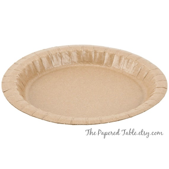 Like this item?  sc 1 st  Etsy & Paper Plates 20 Rustic Paper Plates Disposable Kraft Paper