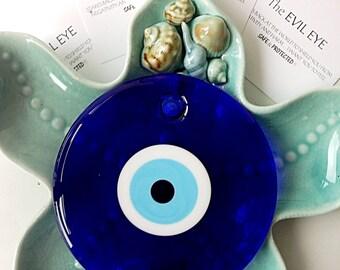 evil eye bead - 13cm - evil eye wall hanging - evil eye charm - large evil eye - turkish evil eye - nazar boncuk - evil eye decor