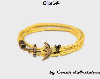 Bracelet human anchor yellow father