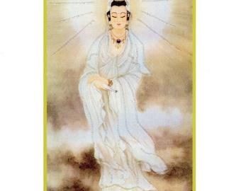 Goddess Kuan Yin Hand-Embellished Card