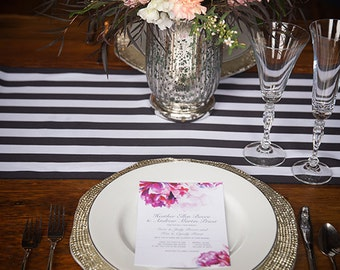 Watercolor Flowers Digital Wedding Invitation