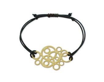 Bracelet circles, There is no right time or right moment, create them for yourself, take that first step, Gold plated for her