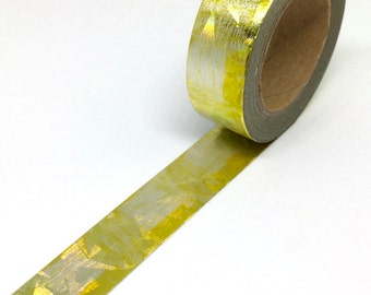SALE Yellow gold foil holographic washi tape