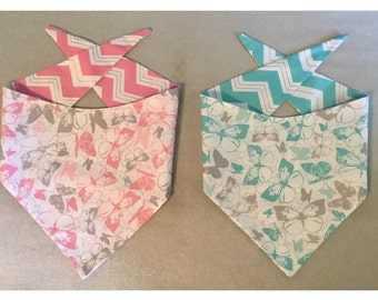 Custom reversible tie up bandanas