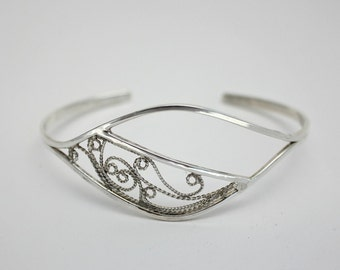 Handcrafted Sterling Silver Filigree Cuff