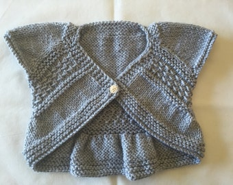 Hand knitted Baby Bolero Cardigan