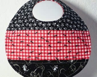 Quilted PICNIC ANTS themed Baby Bib