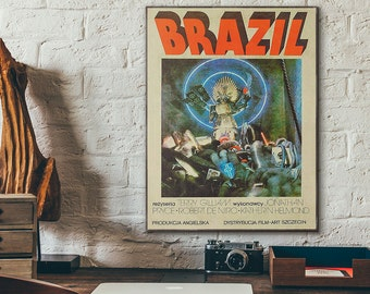 Terry Gilliam's Brazil 1985 Polish Wooden Vintage Poster