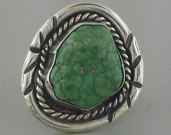 Vintage Navajo Sterling Silver and Turquoise Ring