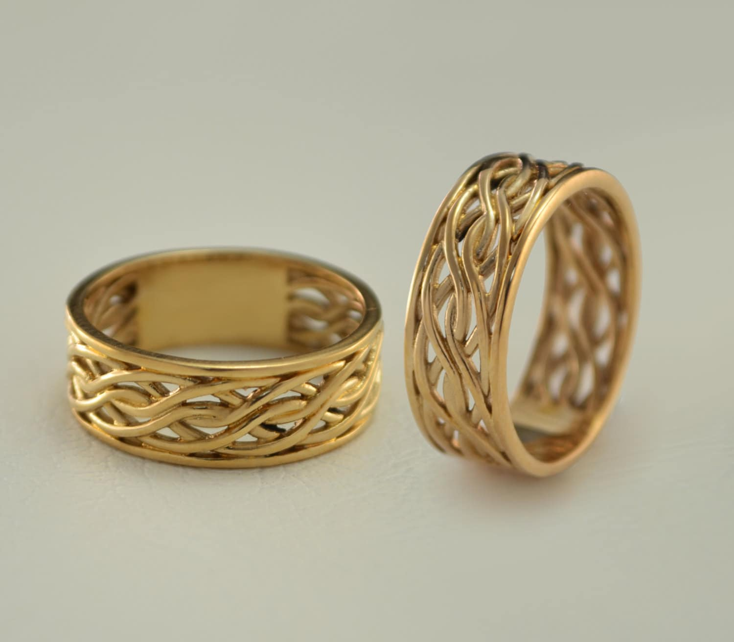 Weaving Wedding Bands Matching Gold Bands Unique Wedding