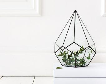 Glass terrarium, Geometric Terrarium, Stained Glass Terrarium, Terrarium container, Geometric terrarium (M11)