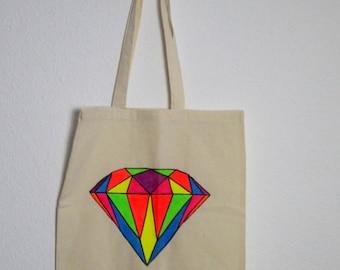 Canvas tote bag - Diamond