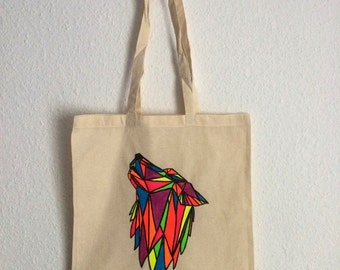 Canvas tote bag - Wolf