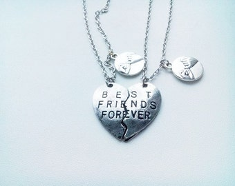 set friendship Necklace - best friends forever jewelry
