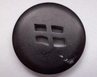 10 black buttons 23mm (2283) button