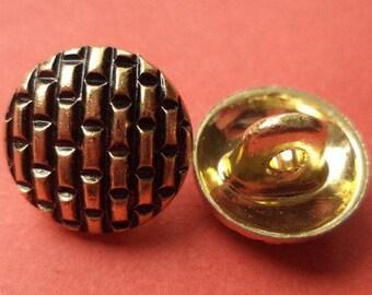 12 mm (2010) metal button buttons 10 metal buttons gold