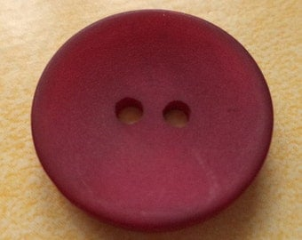 7 Ruby-colored buttons 21mm (4301) button Red