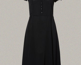 40's 'Dorothy' Dress Inspired Swing Dress in Black by The Seamstress of Bloomsbury