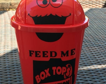 Box Top For Education-Feed Me-Swing Top Waste-Trash Can-Teacher-Classroom-Cookie Monster