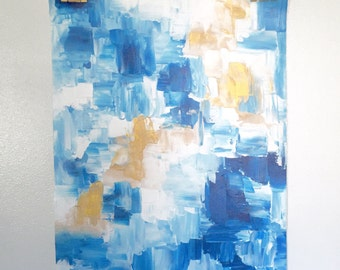 Abstract Palette Knife Painting - Blue