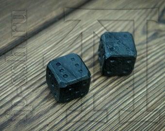 Dice, black steel dice, unique dice