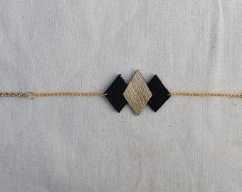 Geo-diamond black strap