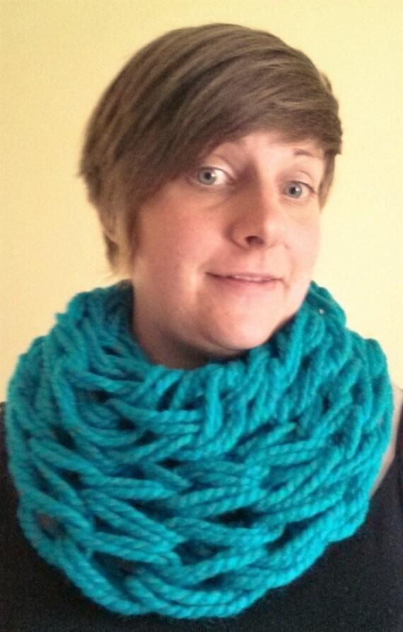 Infinity knit scarf