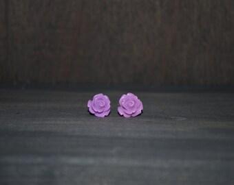 Lilac Rose Earrings