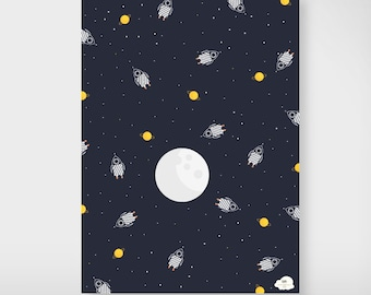 "Gift paper ""Space rocket"""