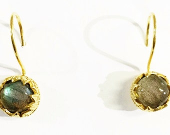 Labradorite with gold filled Earrings