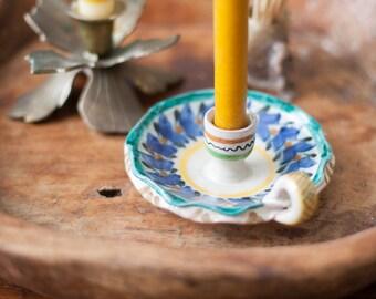 Mexican Folk Art Candlestick Holder