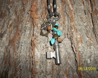 The Skeleton Key To My Heart Pendant Necklace, Antique Skeleton Key #4... this is NOT A REPRODUCTION key