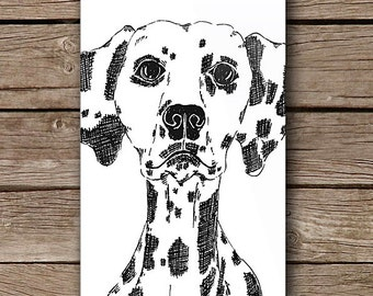 Dalmation Dog iPhone Case iPhone 5/5S iPhone 6 iPhone 6 Plus Case Minimal Minimalist Fine Line Art Design by Case Mates
