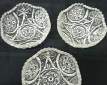 Chic Vintage Crystal Bowls