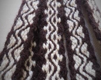 Long tablet woven viking belt - trim - sash, handmade historical textile item