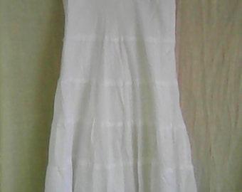 Whit Cotton Tank style Dress
