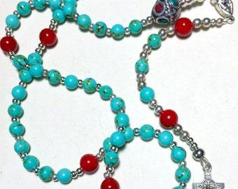 Turquoise Catholic Rosary