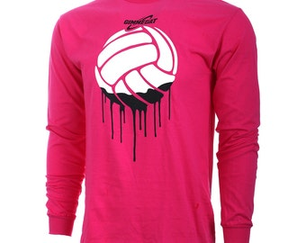 Volleyball Paint Long Sleeve Volleyball T-Shirt, Volleyball Shirts, Volleyball Gift - Free Shipping!