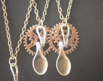 Steampunk Inspired Spoon Pendant