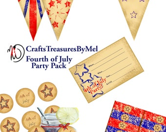Fourth of July Party Pack (Printable Download)