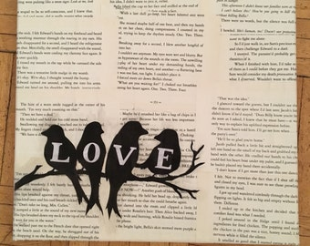 Book Page Silhouette Canvas